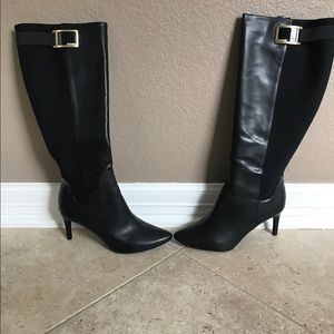 Calvin Klein women's wide calf leather boots